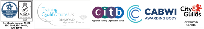 ISO, TQUK, CITB, City & Guilds Logos